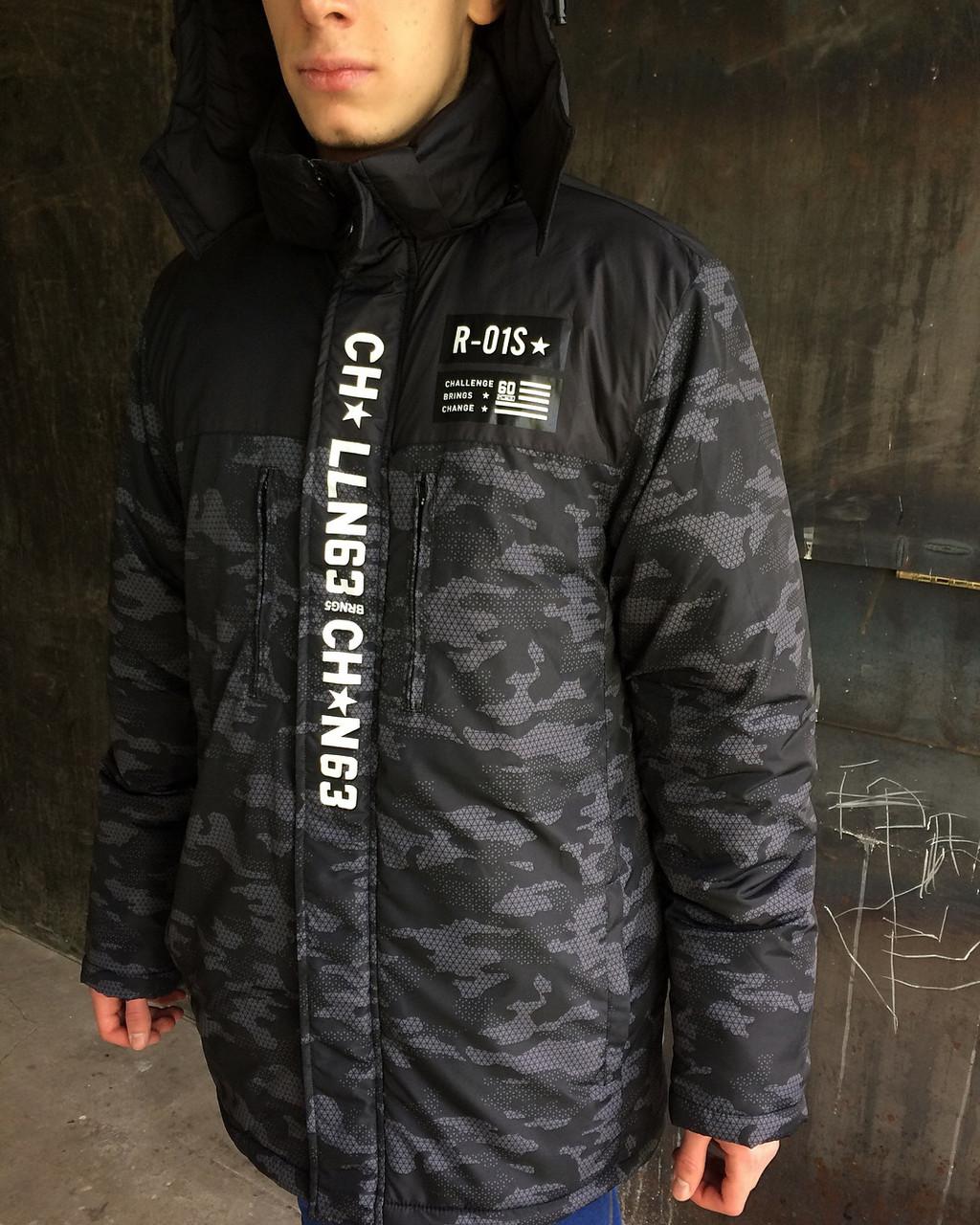 Мужская зимняя куртка Reebok камуфляж