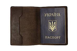Обложка для паспорта, шоколад глянец
