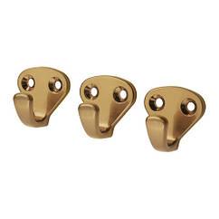 Крючок мебельный IKEA KVASP 3 шт желтая медь 603.981.96