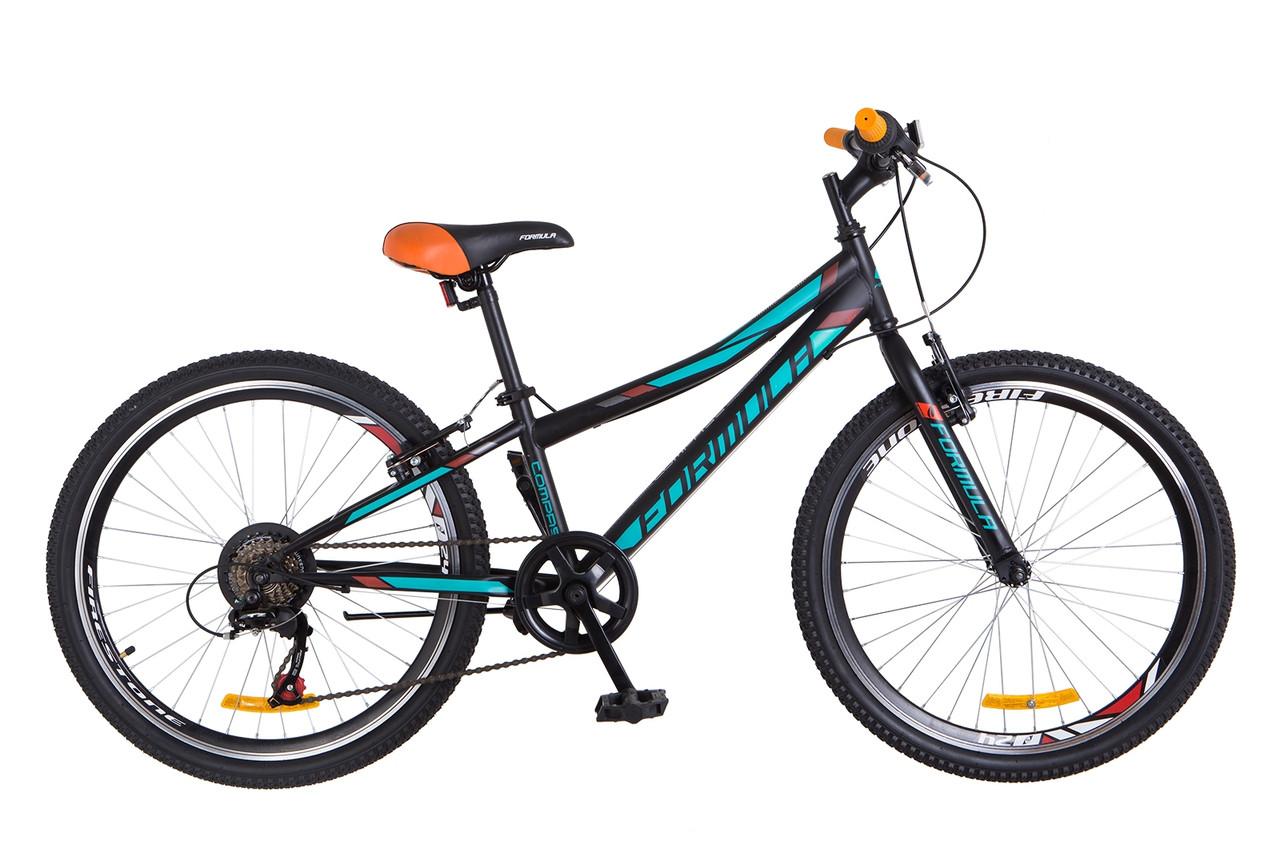 Велосипед горный Formula Compass 24 2018 (черно-бирюзовый (м))