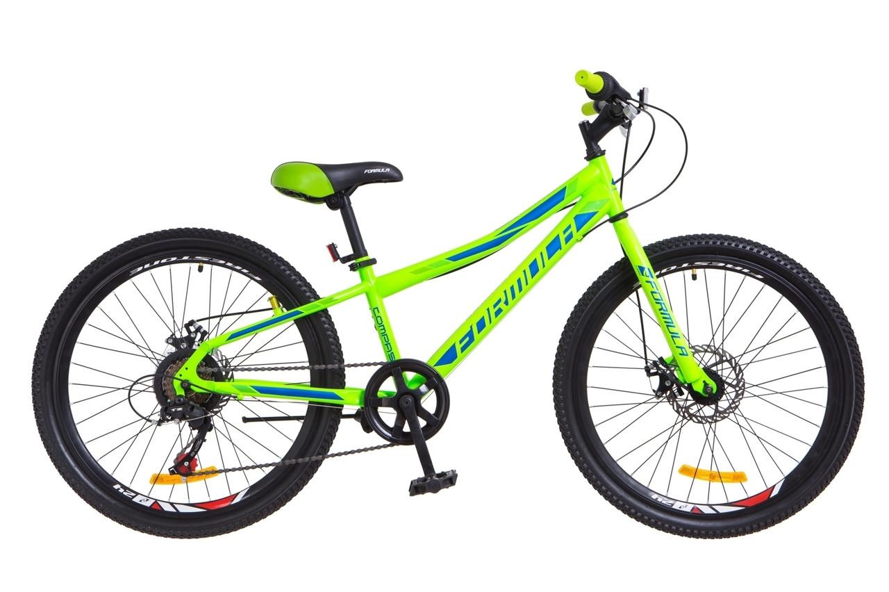 Велосипед горный  Formula Compass dd 24 2018 (салатно-синий)
