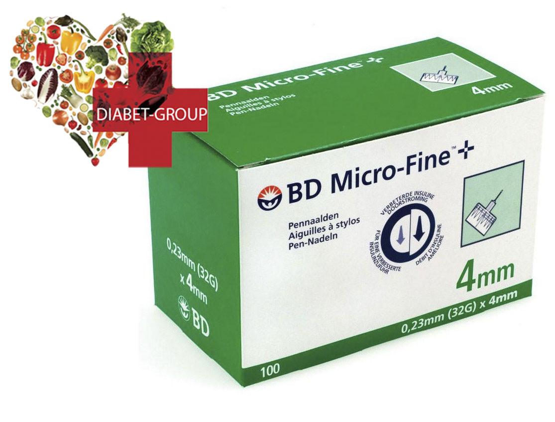 """Иглы для шприц-ручек BD Micro-Fine+ """"МикроФайн"""" 4мм 100шт.  (2 упаковки)"""