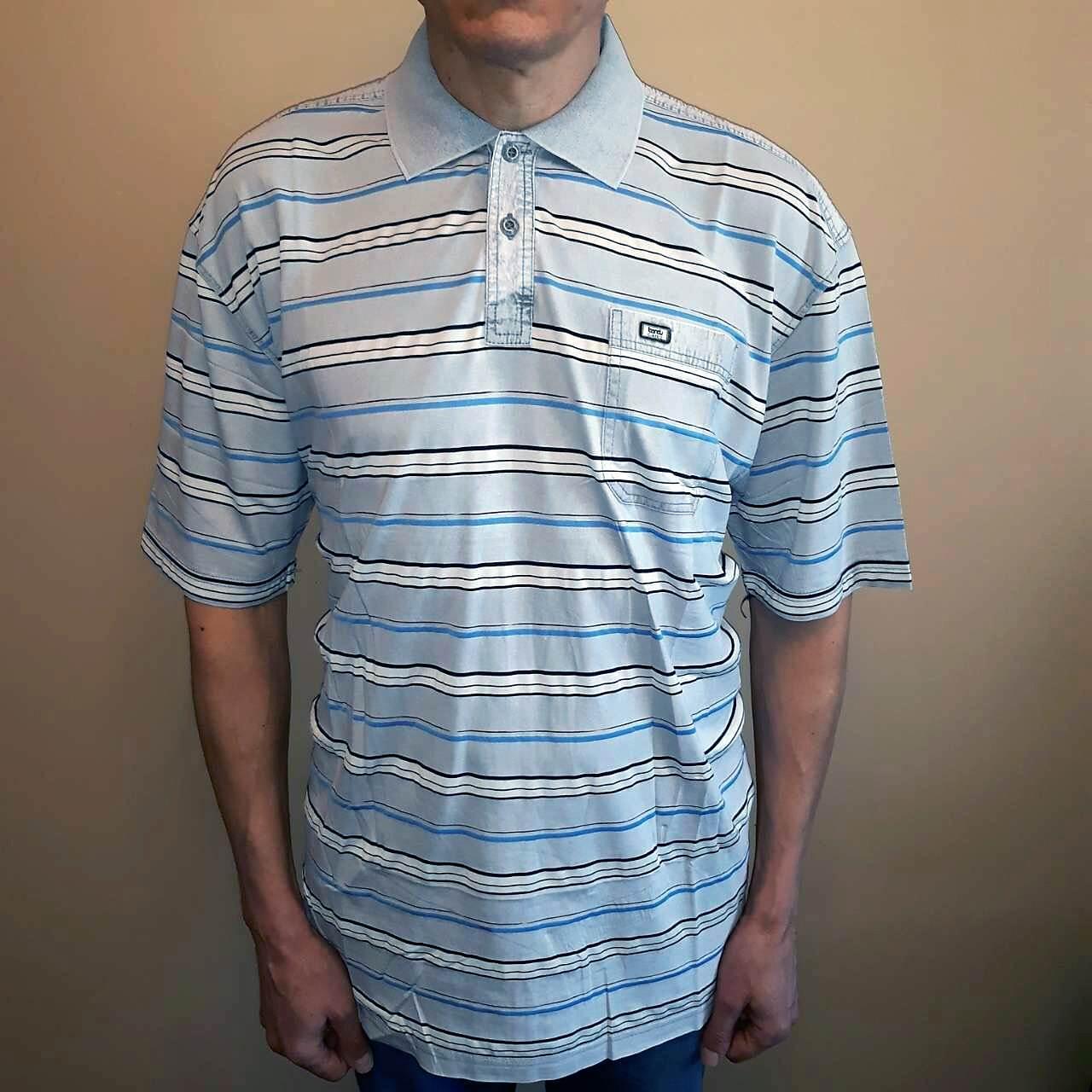 Серая мужская рубашка большого размера с коротким рукавом