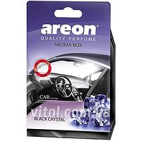 Освежитель воздуха AREON BOX ABC01 под сидение Black Crystal (черный кристалл), освежитель воздуха для автомобиля, освежитель для машины