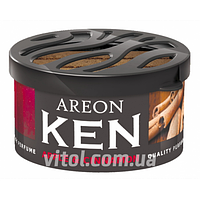 Освежитель воздуха AREON KEN AK16 Apple & Cinnamon (яблоко и корица), освежитель воздуха для автомобиля, освежитель для машины