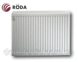 Радиатор стальной Roda RSR 300х1000 ➔ 22 ТИП ➔ боковое подсоединение