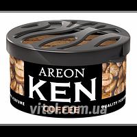 Освежитель воздуха AREON KEN AK17 Coffee (кофе), освежитель воздуха для автомобиля, освежитель для машины