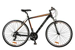 Велосипед туристический (гибрид) 28 Leon hd 85 2017 (черно-оранжевый (м))