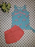 Летний нарядный комплект майка и шорты