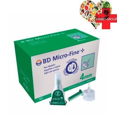 """Иглы для шприц-ручек BD Micro-Fine+ """"МикроФайн"""" 4мм 100шт.  (5 упаковок), фото 2"""