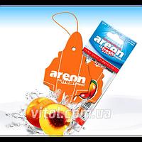 """Освежитель воздуха AREON MKS 19 сухой листик """"Mon Classic"""" Peach (Персик), освежитель воздуха для автомобиля, освежитель для машины"""
