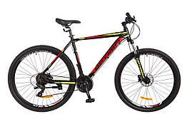 Велосипед горный мужской 29 Optimabikes f-1 hdd 2017 (черно-красный с жёлтым (м))