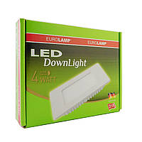 LED Downlight Eurolamp NEW 4W 3000K