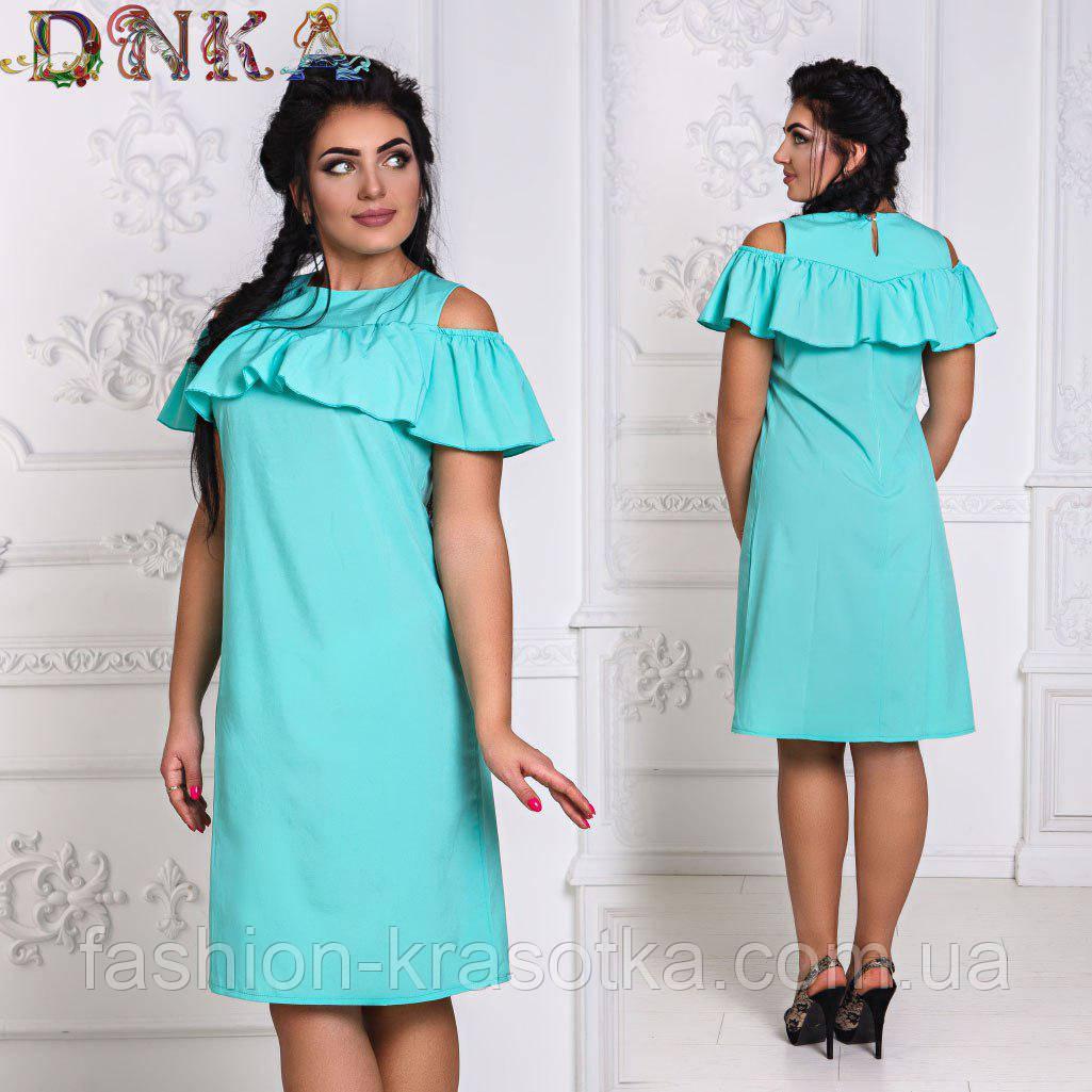 Модное летнее легкое платье в размерах 50-56