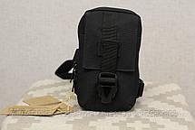 Сумочка - барсетка для карток і телефону прихованого носіння (плечова) Black (9119-black), фото 2