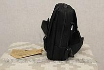 Сумочка - барсетка для карток і телефону прихованого носіння (плечова) Black (9119-black), фото 3