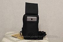 Сумочка - борсетка для карточек и телефона скрытого ношения (плечевая) Black (9119-black), фото 3