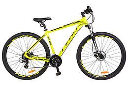 Велосипед горный мужской 29 Leon tn 80 hdd 2018 (желтый акцент с черным (м))