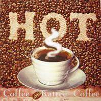 Салфетка для декупажа 33х33см. Hot Coffee