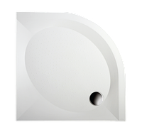 Поддон PAA ART RО80 R550 (White) KDPARTRO80/00 с панелью и ножками, фото 1