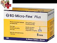 """Иглы для шприц-ручек BD Micro-Fine+""""МикроФайн"""" 8мм 100шт. (1 упаковки)"""
