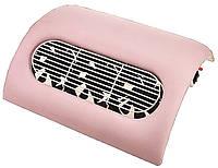 Вытяжка для маникюра настольная 45W на 3 вентилятора —розовая, 2 режима: средняя / высокая мощность