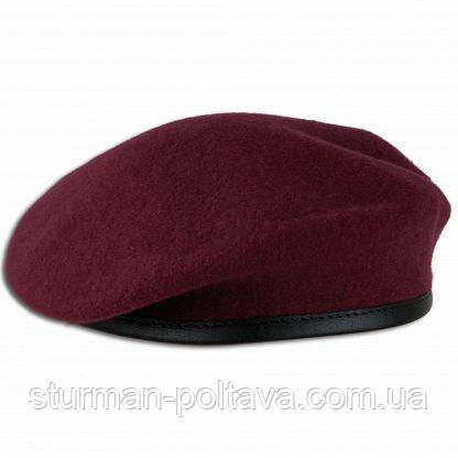 Берет мужской армейский  шерстяной  безшовный  ДШВ    цвет  Марун  MFH  Германия