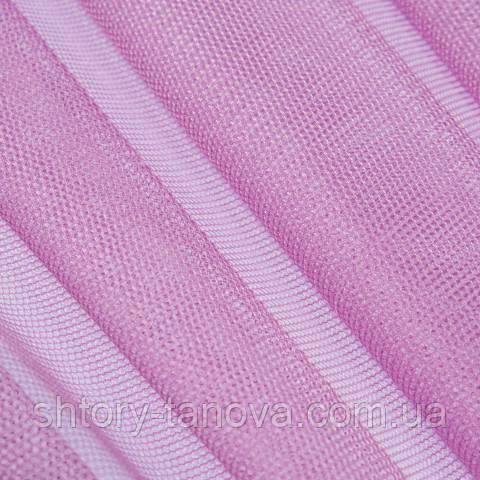 Тюль сетка, ярко-розовый