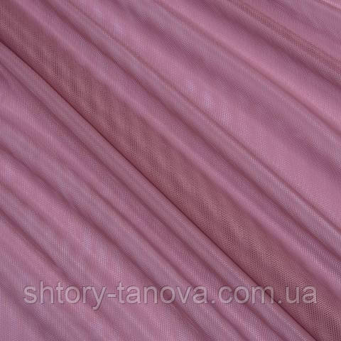 Тюль сетка, фрезово-розовый