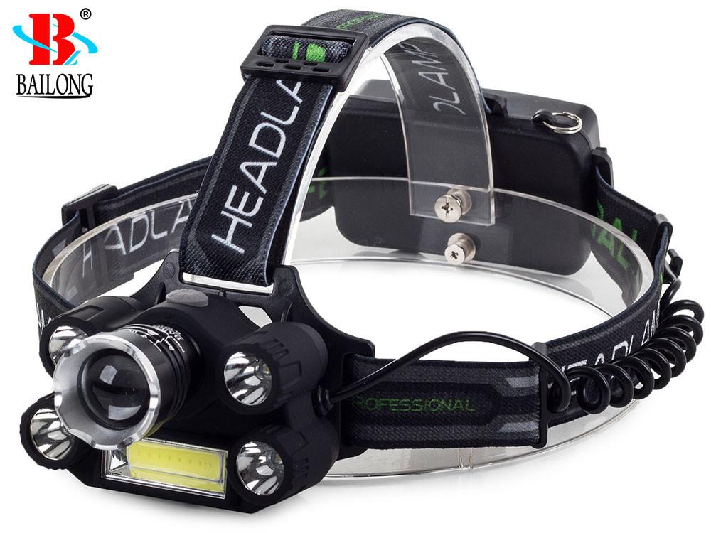 Фонарь BAILONG 5X LED + COB CREE XM-L3-U3