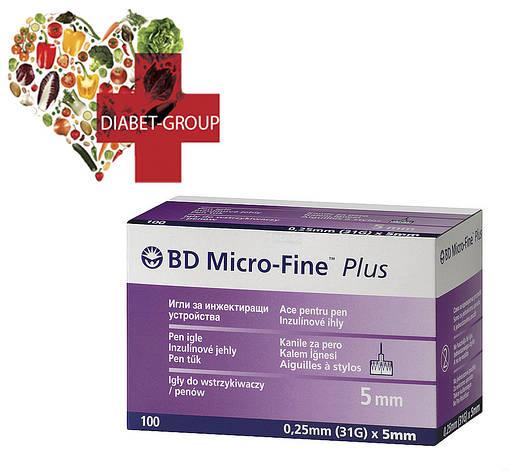 """Иглы для шприц-ручек BD Micro-Fine+ """"МикроФайн"""" 5мм 100шт (5 упаковки), фото 2"""