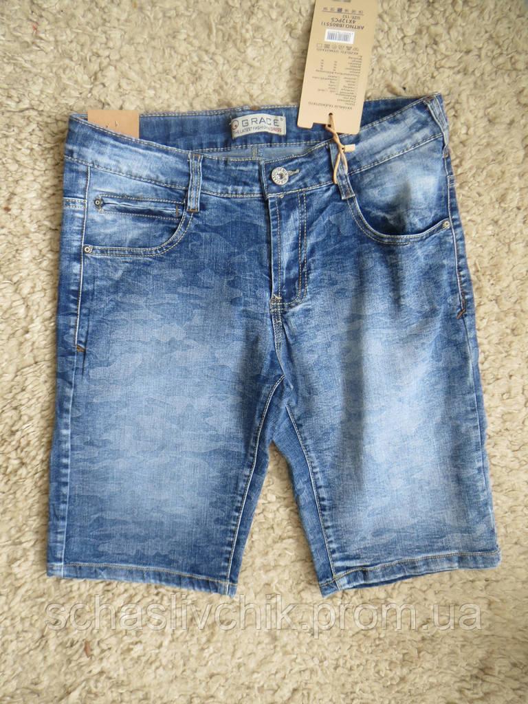 Детские джинсовые бриджи, шорты для мальчиков и девочек, размер 134-164, фирма Grace