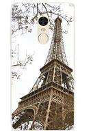 Панель накладка силиконовая для Xiaomi Redmi Note 4x с рисунком Париж фото