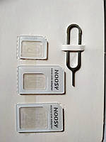 Переходник адаптер для nano micro SIM карт (белый цвет)