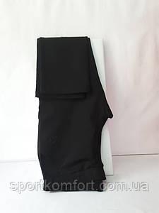 Женские спортивные трикотажные брюки Соккер, чёрные, размеры 46, 52.