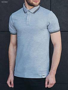 Мужская серая футболка поло Staff gray hat0042