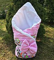 """Конверт-одеяло для новорожденных на выписку и в коляску на синтепоне Стиляжка """"Цвет 3"""""""