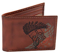 Кожаный кошелек Top Gun Embroidered Sky Chief Leather Trifold Wallet