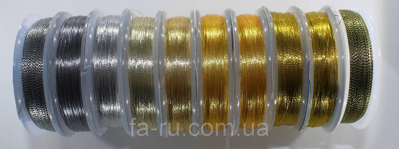 Люрекс Аллюр, микс золото+серебро из 10 цветов