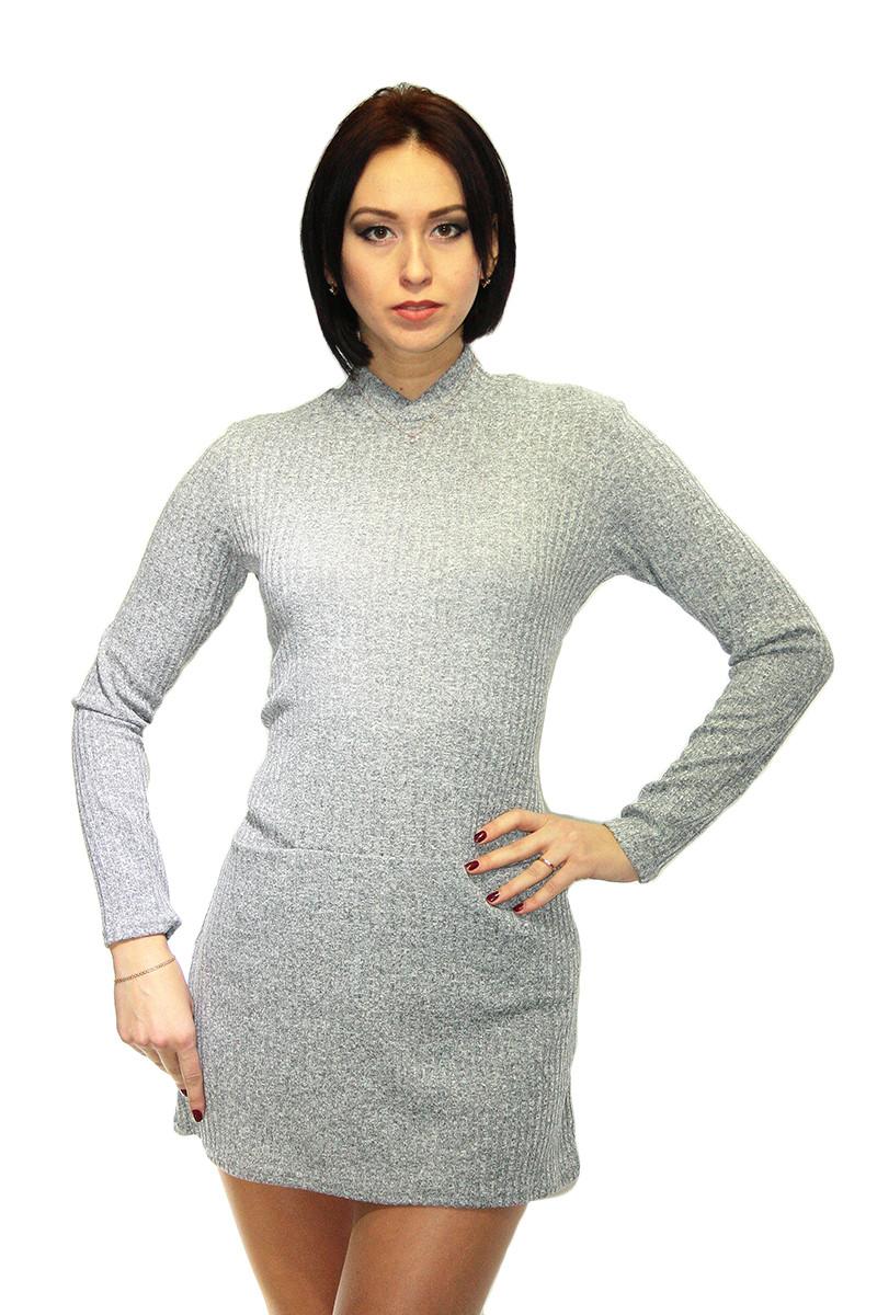 Платье Oscar Fur ПТ-2-3 Серый