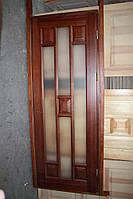 Дверное полотно, со стеклом, массив сосны,  Хай тек