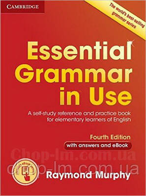 Essential Grammar in Use Fourth Edition Book with Answers and eBook грамматика с решениями и ключами