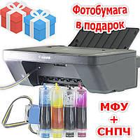 3 в 1: МФУ CANON E414 + СНПЧ Черный Принетр сканер копир домашняя студия Печать подарки фотобумага чернила