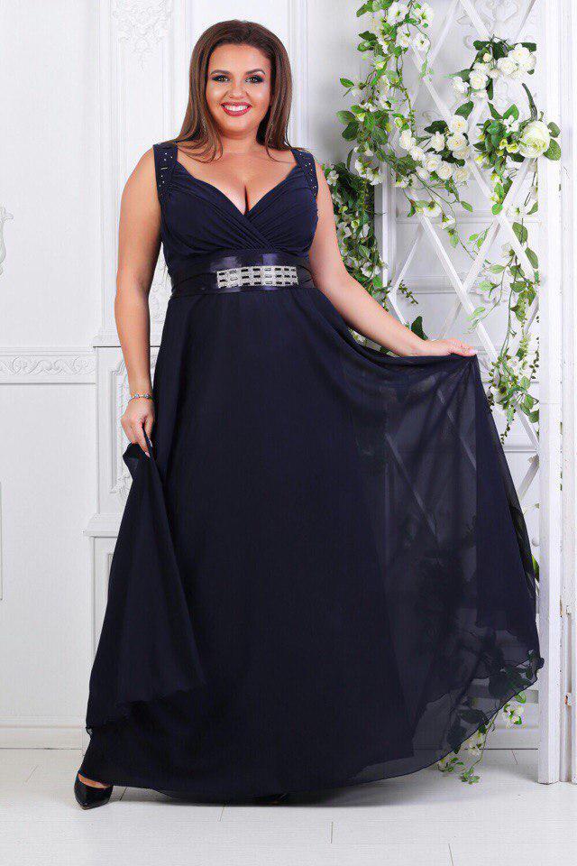 """Платье индиго """"Венера"""" вечернее"""