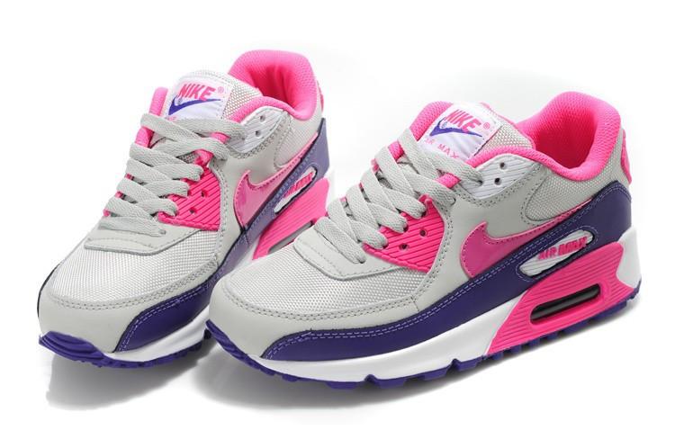 Кроссовки женские Air Max 90 Gray Pink Violet