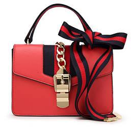 Сумка женская через плечо в стиле Gucci | Красная