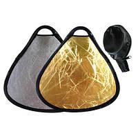 Ручной треугольный фото отражатель, рефлектор 30см