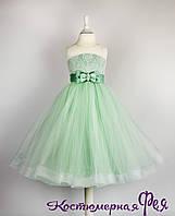 Детское нарядное пышное платье с кружевом (код 3/144), фото 1
