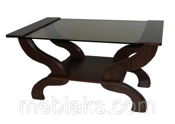 """Журнальный стеклянный стол """"Норд"""" МС-8 для гостиной  Антоник, фото 2"""