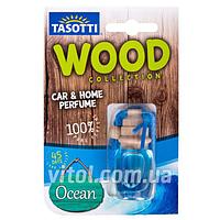 """Освежитель воздуха Tasotti (60) дерево """"Wood"""" Ocean (океан), объем 7 мл, освежитель воздуха для автомобиля, освежитель для машины"""